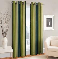 La elite® Premium Super Thick India Loom Made Fresh Quality Curtains / Content - 2 Pcs Window Curtains