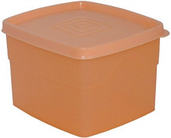 Cello Max Fresh Classic Square Large Polypropylene Container, 875ml, Peach