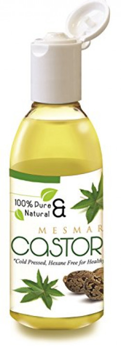 Mesmara Castor Carrier Oil 200 ml Cold Pressed for Hair Growth and Skin Care