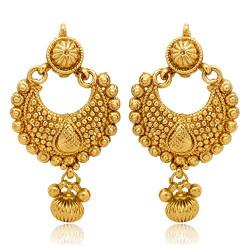 Zeneme Gold color Metal Dangle & Drop Earrings Jewellery For Women/Girls