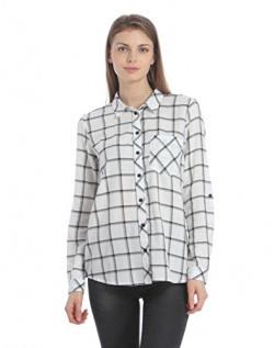 ONLY Women's Regular Fit Cotton Shirt (1825357003_Cloud Dancer_34)