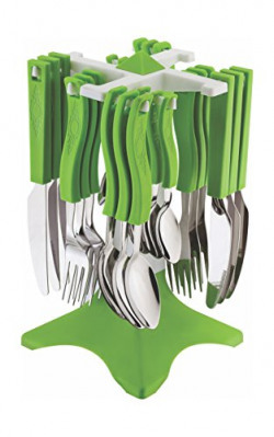 Tosmy Swastic Cutlery Set, Color may vary (TCS2)