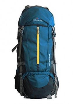 INLANDER 70L Teal Blue Travel Bag Backpacking Backpack for Outdoor Hiking Trekking Camping Rucksack