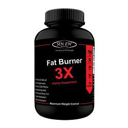Sinew Nutrition Natural Fat Burner 3X - 700 mg (90 Capsules)