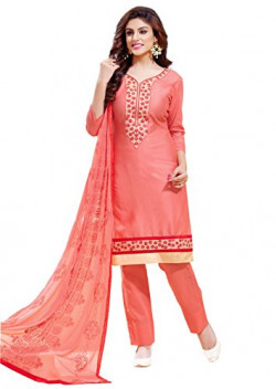 Oomph! Women's Cotton Dress Material (rbhf_8003_Blush Red_Free Size)