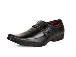 Essence Men's Black Office Formal Shoes-10
