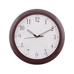 eCraftIndia Decorative Retro Round Plastic Wall Clock (31 cm x 3 cm x 31 cm, Brown)