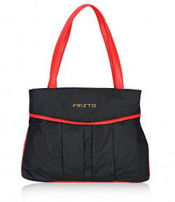 Fristo Women's Handbag (FRB-020, Black and Red)