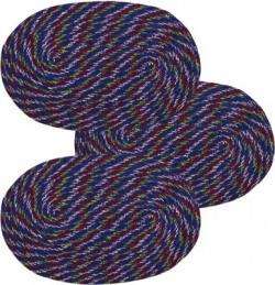 IWS Cotton Door Mat Designer(Blue, Red, Medium)