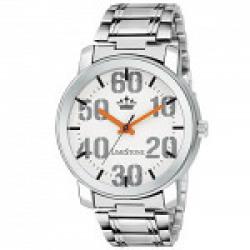 Limestone Analogue White Dial Men's Watch - Ls2711