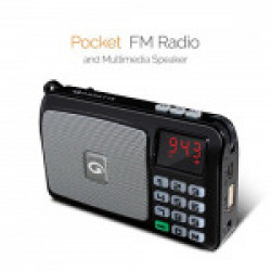 Amkette Pocket Portable Multimedia Speaker with FM, USB, SD Card and Powerful Torch
