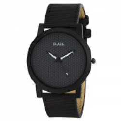 RELISH RE-S8058BB Black Slim Analog Watches for Men's and Boy's