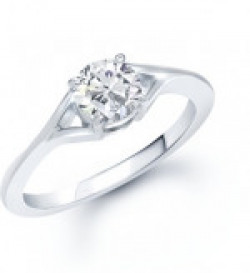 VK Jewels VK Jewels Fancy (CZ) Solitaire Ring Alloy Cubic Zirconia Rhodium Plated Ring
