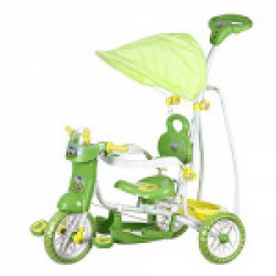 Dash Kids VEGA Musical tricycle with Canopy and Parent Push Handle (Green)