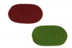 Joyful Organic Cotton Bath Mat Premium Solid 2 Piece Polycotton Door Mat Set(Red, Green, Medium)