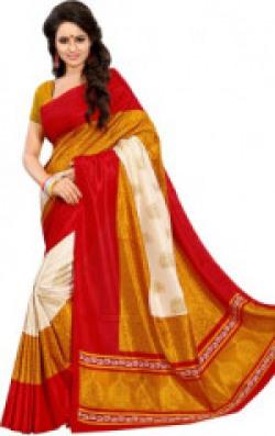 Sunaina Printed Fashion Art Silk Saree(Multicolor)
