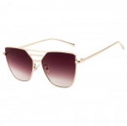 Farenheit Square Sunglasses FA-731-Gold-Pur-Greadent 