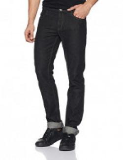 Newport Men's Slim Fit Jeans (8907242827544_267822100_32W x 34L_Black)