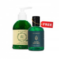 ST. D'VENCE Essential Tea Tree Oil and Neem Face Wash 150ml (with FREE Tea Tree Body Wash worth ₹199)