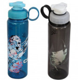 WWE Superstar John Cena and Undertaker Plastic Sipper Bottle Set, 700ml, Set of 2, Multicolour