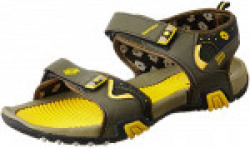Lotto Men's Lotto Sports Sandals Olive and Yellow Sandals and Floaters - 9 UK/India (43 EU) (GT7044Olive -44)