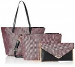 Diana Korr Women's Handbag with Sling (Pink) (Set of 3) (DK124CPNK)