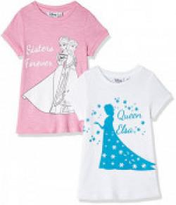 Frozen Girls' T-Shirt (Pack of 2) & more combos flat 80% off