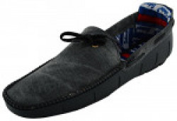 Anshul Fashion men's grey fabric & synthetic loafers-7 (PNI-501-Grey_7)