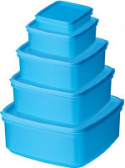 Ratan  - 2250 ml, 1400 ml, 1100 ml, 665 ml, 250 ml Plastic Grocery Container(Pack of 5, Blue)