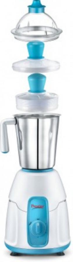 Prestige Racer 550 W Mixer Grinder(White and Blue, 1 Jar)