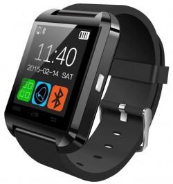 Bingo U8 Bluetooth Black Rubber Smart Watch