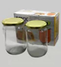 ROXX Glass Storage Jar, 750 ML, Set of 2