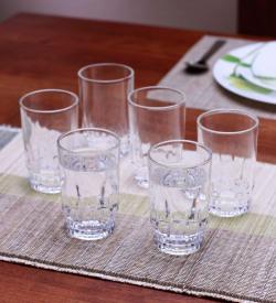 ROXX Exotic Glass Tumblers - Set of 6