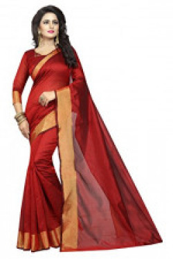 FabDiamond Women's Multi-Colour Georgette Saree with Blouse Piece (Red)