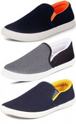 Ethics Men's Combo Pack of 3 Loafers Shoes (8)