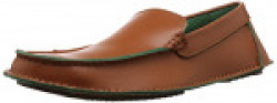 Julius Marcus Men's Tan Loafers and Moccassins - 8 UK
