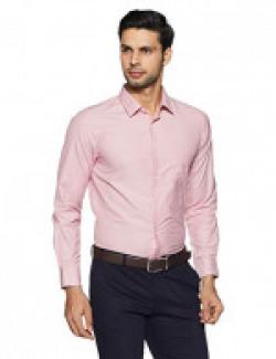 Peter England Men's Solid Slim Fit Formal Shirt 60% OFFER