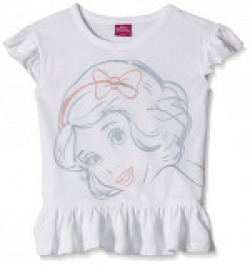 Disney Girls' Blouse Shirt (TC 2828_White_8 - 9 years)