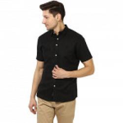 Red Tape Men's Solid Regular Fit Casual Shirt (RSH6431-XL-Black)