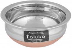 Taluka Copper Bottom Stainless Steel Handi, 750 ml, 15 cm x 15 cm x 7 cm, THCB750