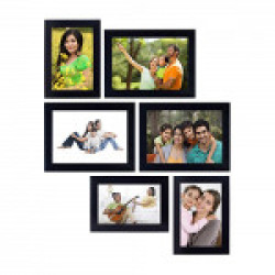 Amazon Brand - Solimo Collage Photo Frames (Set of 6, Wall Hanging)
