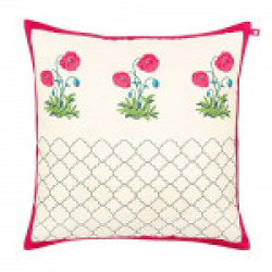 Floral Twinkles Poly Taf Silk Cushion Cover