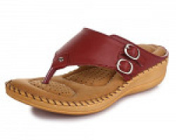 TRASE Dr - Plus Elan Cherry Ortho Slippers for Women (with Comfortable Doctor Sole)-7 IND/UK