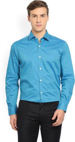 Peter England Men's Solid Formal Spread Shirt