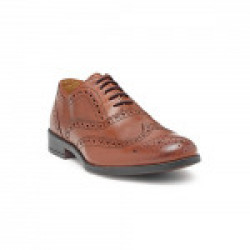 HATS OFF ACCESSORIES Genuine Leather Tan Premium Brogues Shoes for Mens