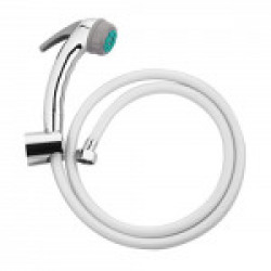Hindware F160027 Health Faucet ABS with Rubbit Cleaning System, 1.25m Long PVC Flexible Tube and ABS Wall Hook (Multicolor)