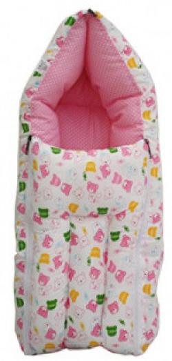 Amardeep Baby Sleeping Bag Cum Baby Carry Bag, Pink