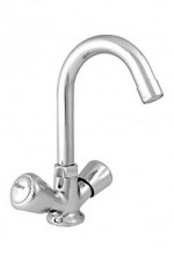 Visko Dazzling 2020 Brass Center Hole Tap Faucet (Silver, Chrome Finish)