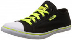 Puma Unisex's Streetballer Dp Puma Black and Safety Yellow Sneakers - 11 UK/India (46 EU) (36176110)