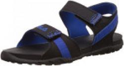 Fila Men's Hamlin Black and Royal Blue Sandals and Floaters -9 UK/India (43 EU)